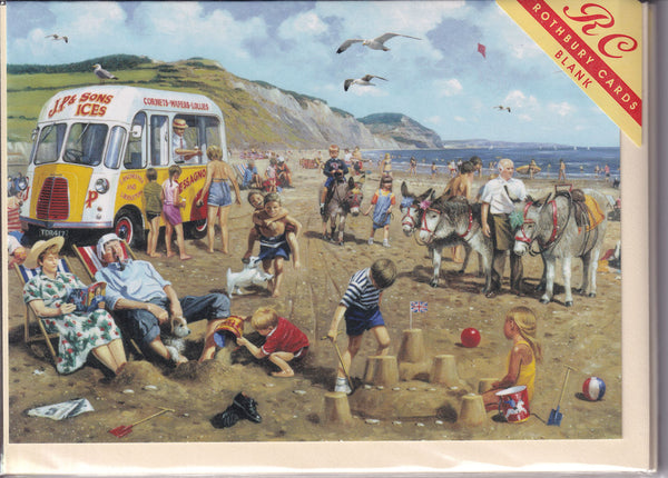 Bucket And Spade Beach Fun Greetings Card - Kevin Walsh