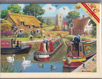 Busy Days On The Canal Greetings Card - Kevin Walsh