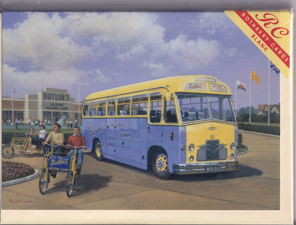 Butlins Holiday Camp Greetings Card - Malcolm Root