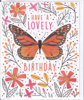 Butterfly Have A Lovely Birthday Card - Nigel Quiney