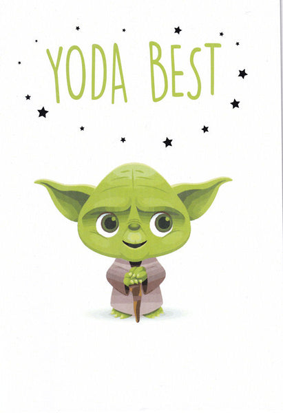 Yoda Best Greetings Card