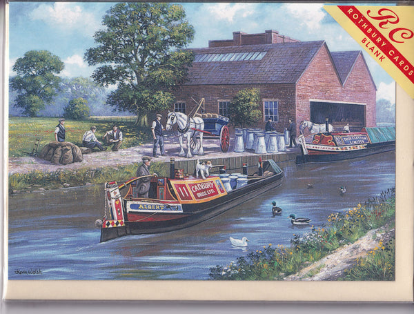 Cadbury Canal Transport Greetings Card - Kevin Walsh