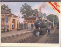 Calne Railway Station Steam Train Greetings Card - Robin Pinnock