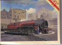 Camden Turntable Duchess Of Sutherland Train Greetings Card - Malcolm Root