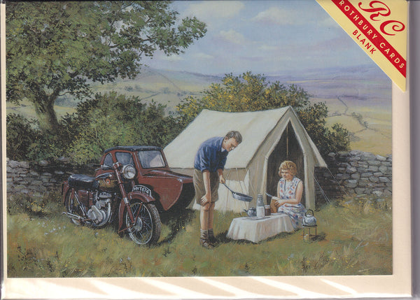 Camping Days Greetings Card - Kevin Walsh