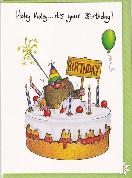 Holey Moley...It's Your Birthday! Card - The Compost Heap
