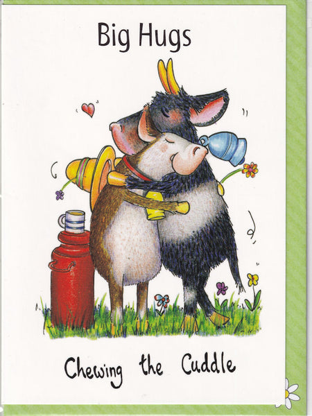 Big Hugs Chewing The Cuddle Greetings Card - The Compost Heap