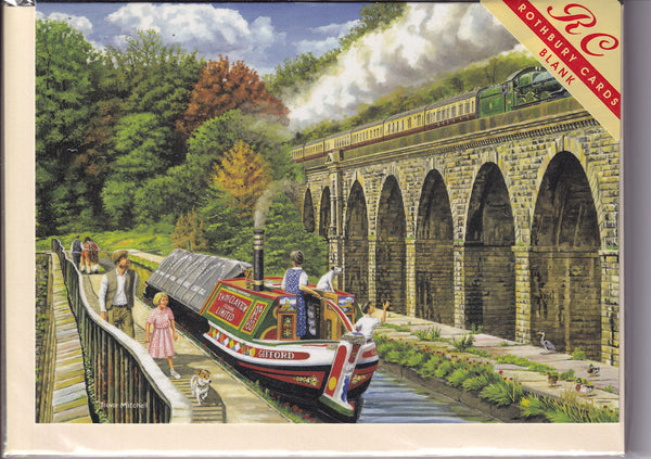 Chirk Aqueduct Greetings Card - Trevor Mitchell