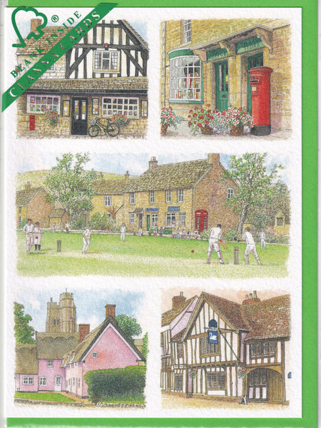 Village Life Greetings Card - Richard Partis For Clanna Cards
