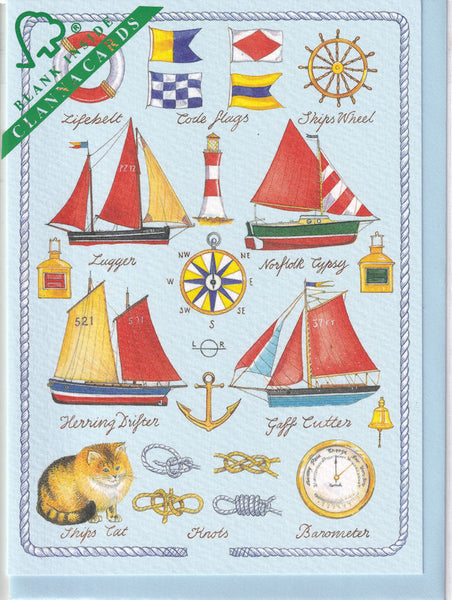 The Art Of Sailing Greetings Card - Richard Partis For Clanna Cards
