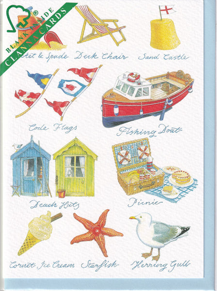 Beside The Sea Greetings Card - Richard Partis For Clanna Cards