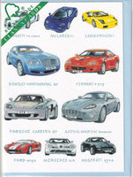 Supercars Greetings Card - Richard Partis For Clanna Cards