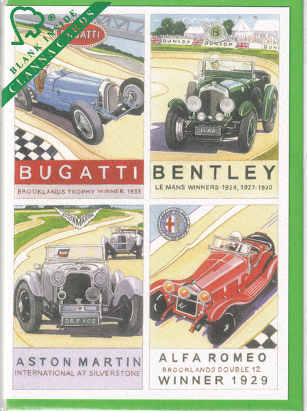 Brooklands Motor Racing Greetings Card - Richard Partis For Clanna Cards