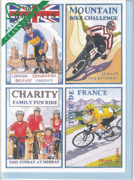Cycling Greetings Card - Richard Partis For Clanna Cards