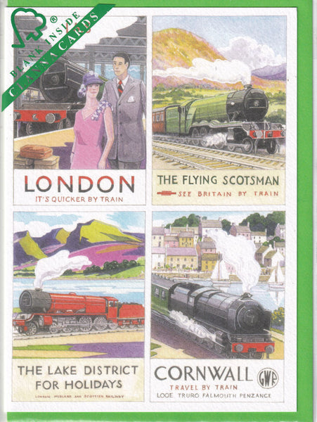 The Age Of Steam Trains Greetings Card - Richard Partis For Clanna Cards