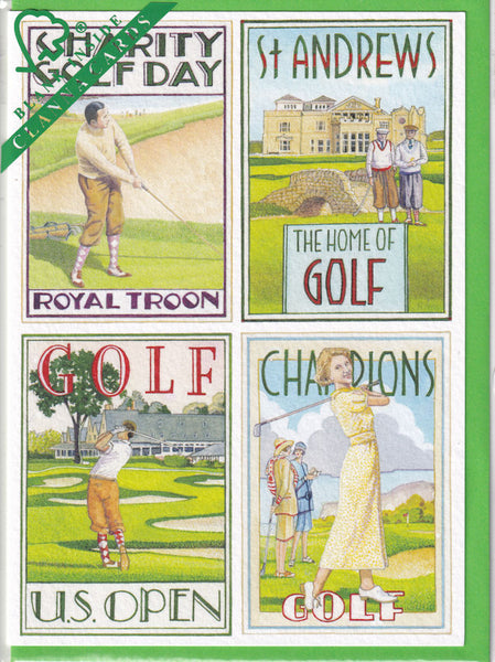 Golf Courses Greetings Card - Richard Partis For Clanna Cards