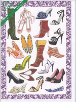Shoe Shop Greetings Card - Deborah Pope For Clanna Cards