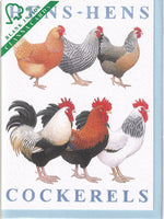 Hens And Cockerels Greetings Card - Richard Partis For Clanna Cards