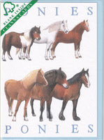 Ponies Greetings Card - Richard Partis For Clanna Cards