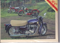 Classic Motorcycles Greetings Card - Richard Wheatland