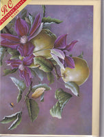 Clematis Flowers And Apples Greetings Card - Sonya Marshall