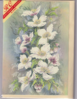 Clematis Montana Flowers Greetings Card - Linda Mannion