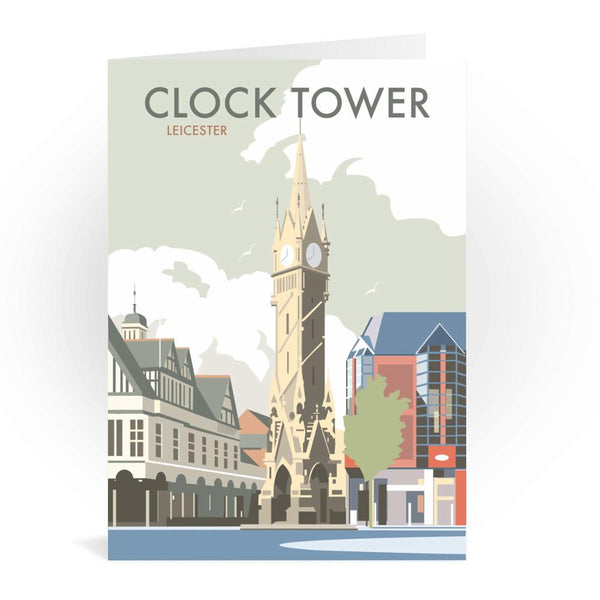 Leicester Clock Tower Greetings Card - Dave Thompson