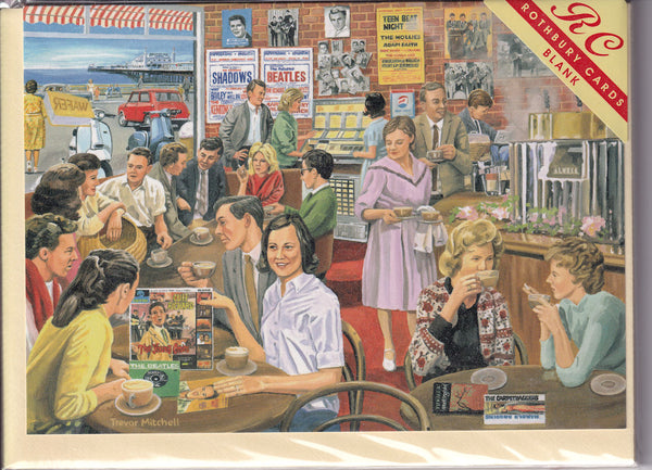 Coffee And Pop Music 1960's Greetings Card - Trevor Mitchell