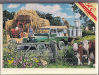 Collecting The Milk Churns Greetings Card - Trevor Mitchell