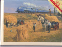 Coronation Train And The Harvest Greetings Card - Robin Pinnock