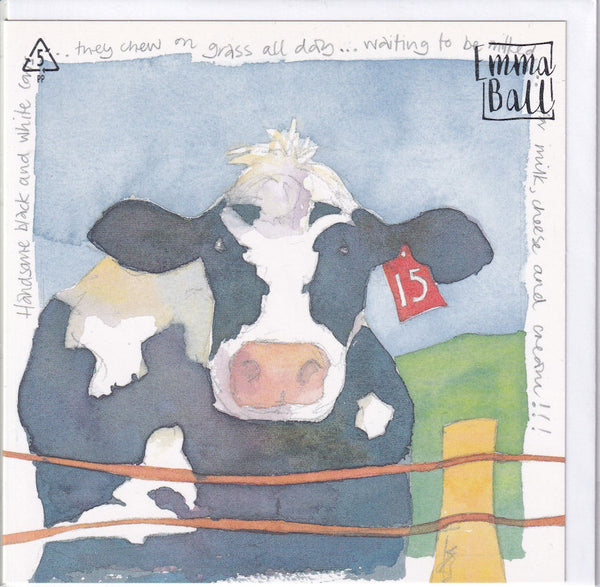 Cow Greetings Card - Emma Ball