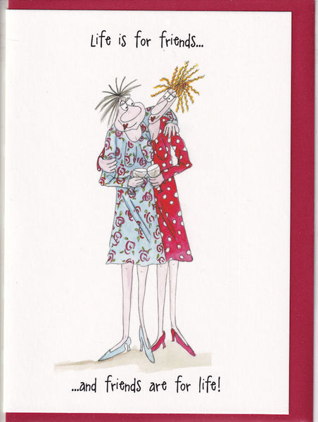 Life Is For Friends Camilla & Rose Greetings Card