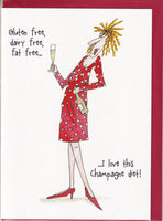 I Love This Champagne Diet! Camilla & Rose Greetings Card