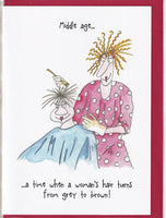 Middle Age Hair Colour Camilla & Rose Greetings Card