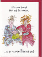 Through Thick And Thin Camilla & Rose Greetings Card