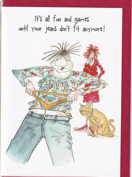 Jeans Don't Fit Anymore! Camilla & Rose Greetings Card