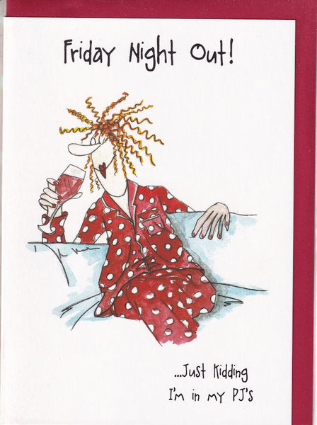 Friday Night In My PJ's Camilla & Rose Greetings Card
