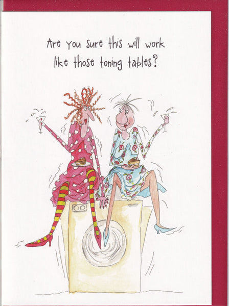 Washing Machine Toning Table Camilla & Rose Greetings Card