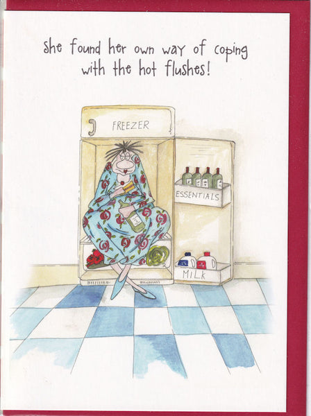 Coping With Hot Flushes! Camilla & Rose Greetings Card