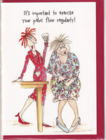 Pelvic Floor Exercises Camilla & Rose Greetings Card