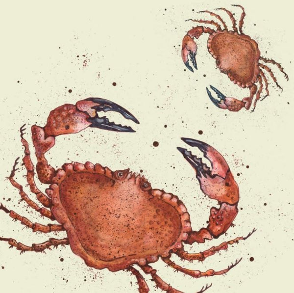 Crabs Greetings Card - Caroline Cleave