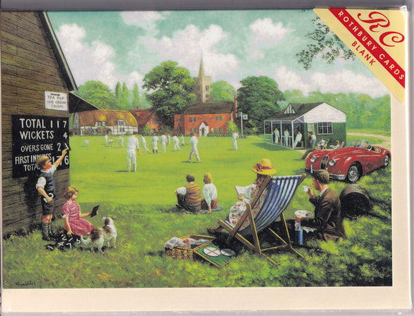 Vintage Cricket Match Greetings Card - Kevin Walsh
