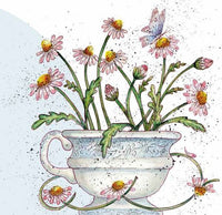 Daisy Flowers Greetings Card - Caroline Cleave