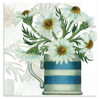 Daisy Flowers In A Mug Greetings Card - Caroline Cleave