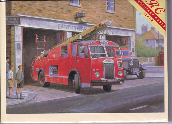 Dennis Fire Engine Call Out Greetings Card - Mike Jeffries