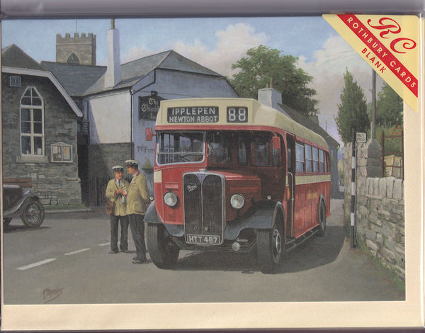 Devon General Vintage Bus Greetings Card - Mike Jeffries