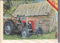 Dog Sitting On A Tractor Greetings Card - Trevor Mitchell