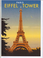 Eiffel Tower Paris France Greetings Card - Dave Thompson