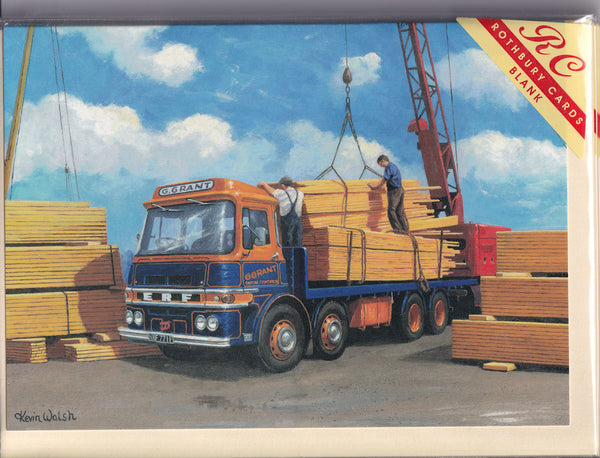 ERF Lorry At The Timber Docks Greetings Card - Kevin Walsh