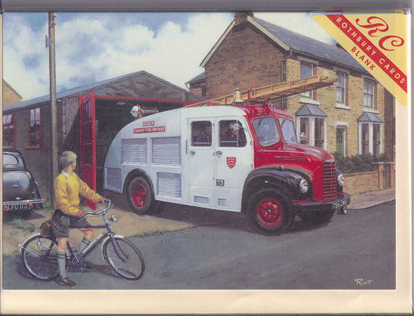 Essex County Fire Brigade Greetings Card - Malcolm Root